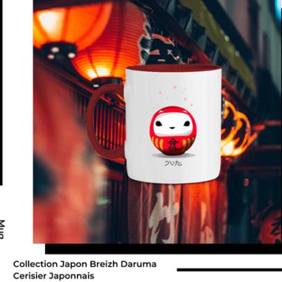 Mug Breizh Daruma Cerisier Collection Japon de la marque Breizh Traveller