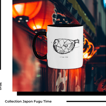 Mug Fugu Collection Japon de la marque Breizh Traveller