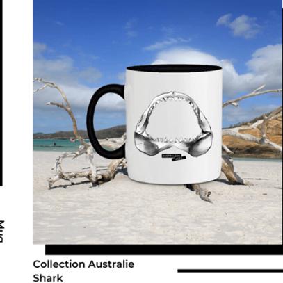 Mug Shark Collection Australie de la marque Breizh Traveller