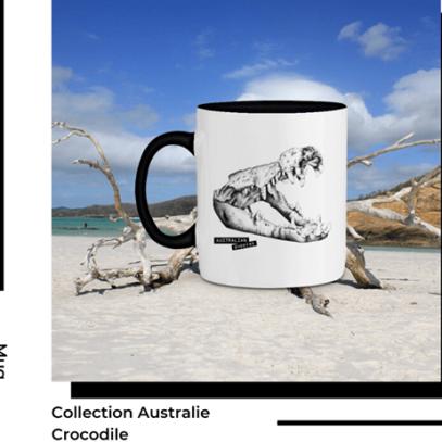 Mug Crocodile Collection Australie de la marque Breizh Traveller