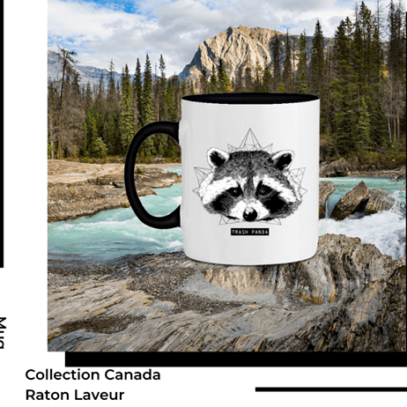 Mug Raton Laveur Collection Canada de la marque Breizh Traveller