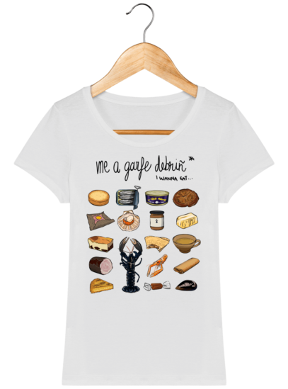 Tee Shirt Femme col rond Back to Breizh - De retour en Bretagne - White - Face