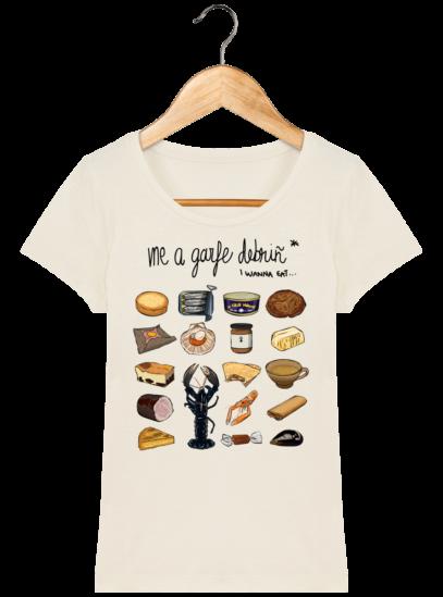 Tee Shirt Femme col rond Back to Breizh - De retour en Bretagne - Natural - Face
