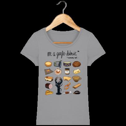 Tee Shirt Femme col rond Back to Breizh - De retour en Bretagne - Opal - Face