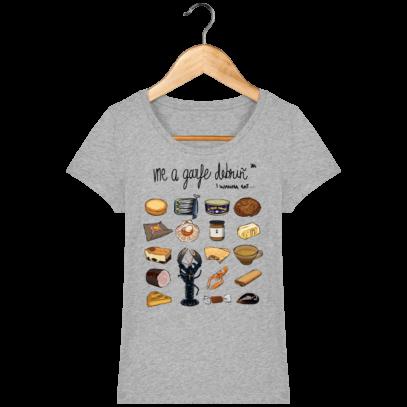 Tee Shirt Femme col rond Back to Breizh - De retour en Bretagne - Heather Grey - Face