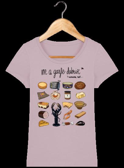 Tee Shirt Femme col rond Back to Breizh - De retour en Bretagne - Lilac Peak - Face