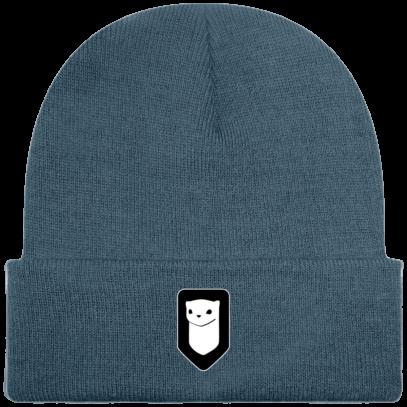Bonnet / Tuque Breizh Traveller brodé - Airforce Blue - Face