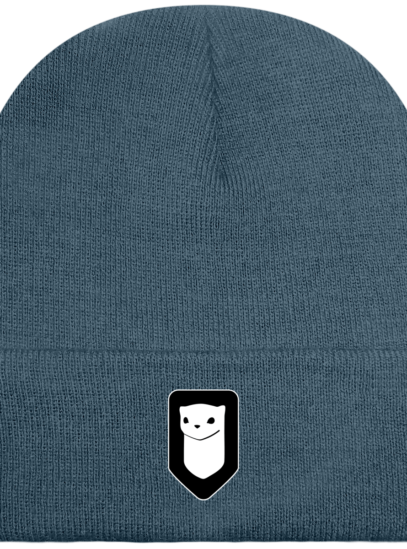 Bonnet / Tuque Breizh Traveller brodé - Airforce Blue - Face