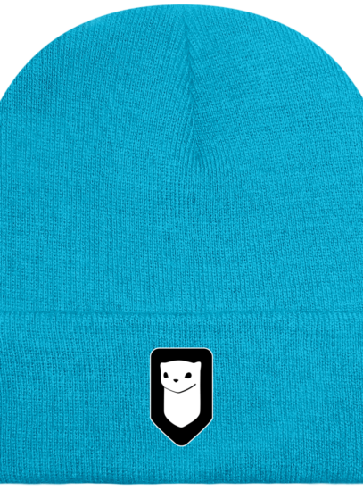 Bonnet / Tuque Breizh Traveller brodé - Surf Blue - Face