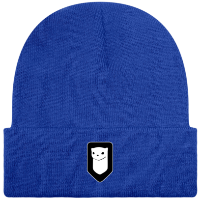 Bonnet / Tuque Breizh Traveller brodé - Bright Royal - Face