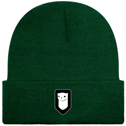 Bonnet / Tuque Breizh Traveller brodé - Bottle Green - Face