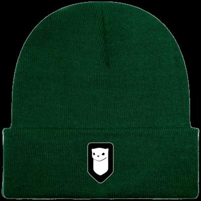 Bonnet / Tuque Breizh Traveller brodé - Bottle Green - Face
