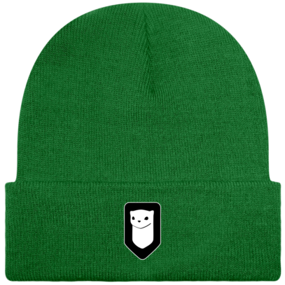 Bonnet / Tuque Breizh Traveller brodé - Kelly Green - Face