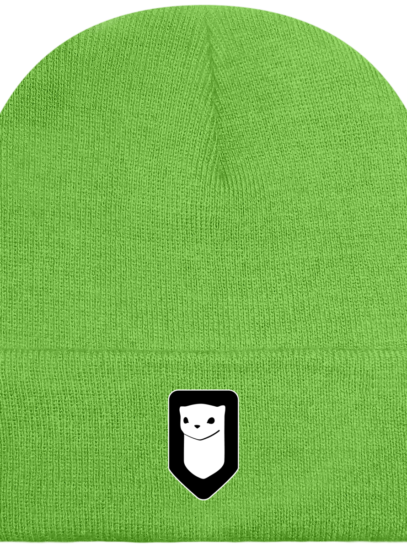 Bonnet / Tuque Breizh Traveller brodé - lime Green - Face