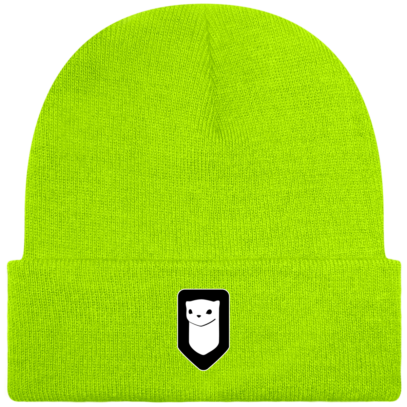 Bonnet / Tuque Breizh Traveller brodé - Fluorescent Green - Face