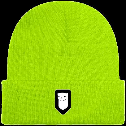 Bonnet / Tuque Breizh Traveller brodé - Fluorescent Green - Face