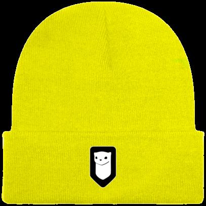 Bonnet / Tuque Breizh Traveller brodé - Fluorescent Yellow - Face