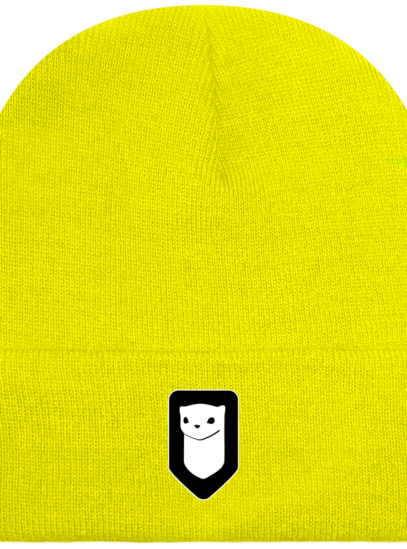 Bonnet / Tuque Breizh Traveller brodé - Fluorescent Yellow - Face