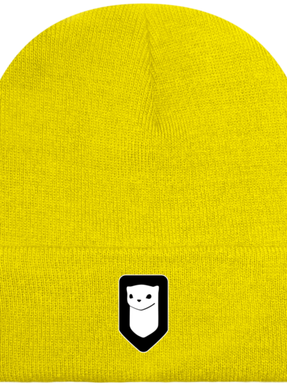 Bonnet / Tuque Breizh Traveller brodé - Yellow - Face