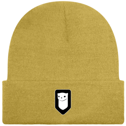 Bonnet / Tuque Breizh Traveller brodé - Mustard - Face