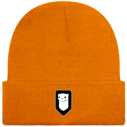 Bonnet / Tuque Breizh Traveller brodé - Orange - Face