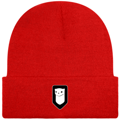 Bonnet / Tuque Breizh Traveller brodé - Bright Red - Face