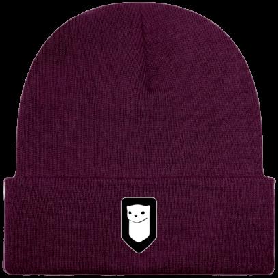 Bonnet / Tuque Breizh Traveller brodé - Plum - Face