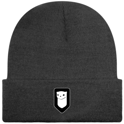 Bonnet / Tuque Breizh Traveller brodé - Graphite Grey - Face