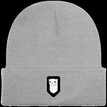 Bonnet / Tuque Breizh Traveller brodé - Light Grey - Face