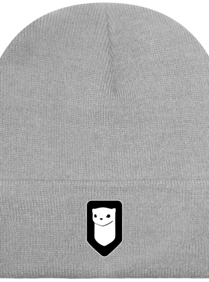 Bonnet / Tuque Breizh Traveller brodé - Light Grey - Face