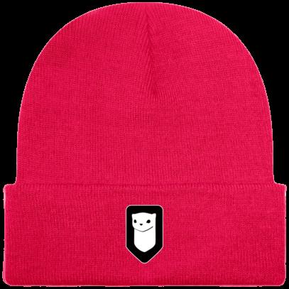 Bonnet / Tuque Breizh Traveller brodé - Fluorescent Pink - Face