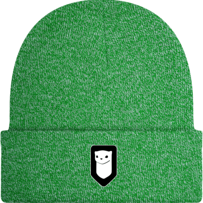 Bonnet / Tuque Breizh Traveller brodé - Heather Green - Face