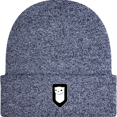 Bonnet / Tuque Breizh Traveller brodé - Heather Navy - Face