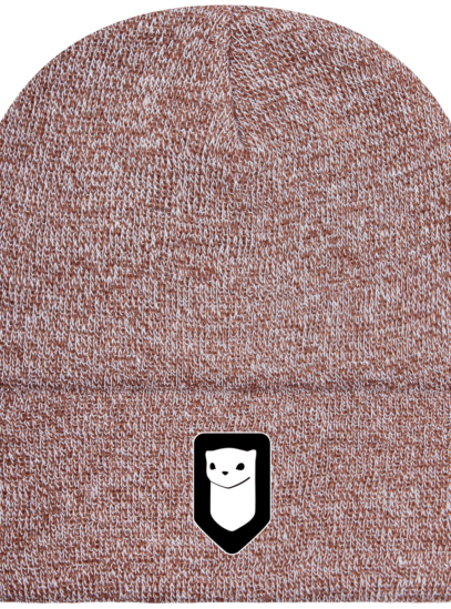 Bonnet / Tuque Breizh Traveller brodé - Heather Oatmeal - Face