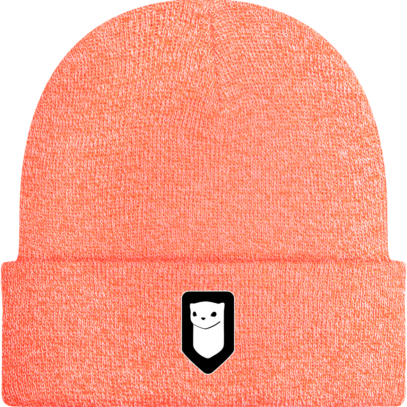 Bonnet / Tuque Breizh Traveller brodé - Heather Orange - Face