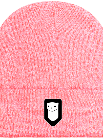 Bonnet / Tuque Breizh Traveller brodé - Heather Pink - Face