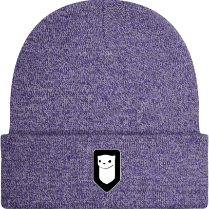 Bonnet / Tuque Breizh Traveller brodé - Heather Purple - Face