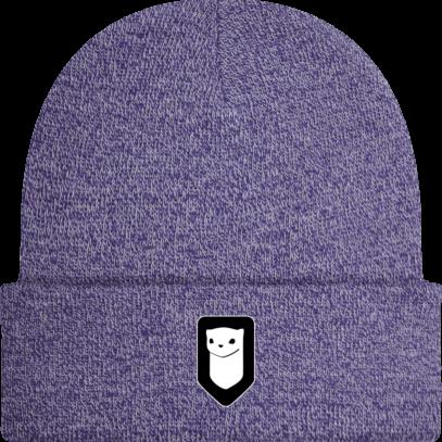 Bonnet / Tuque Breizh Traveller brodé - Heather Purple - Face