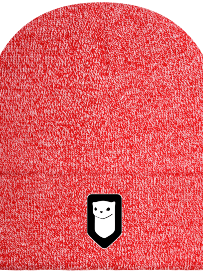 Bonnet / Tuque Breizh Traveller brodé - Heather Red - Face