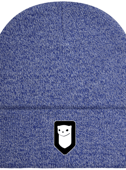 Bonnet / Tuque Breizh Traveller brodé - Heather Royal - Face