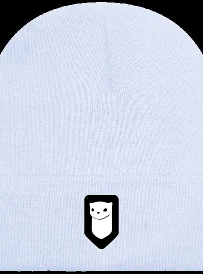 Bonnet / Tuque Breizh Traveller brodé - Pastel Blue - Face