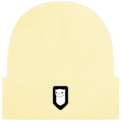 Bonnet / Tuque Breizh Traveller brodé - Pastel Lemon - Face