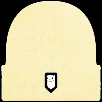 Bonnet / Tuque Breizh Traveller brodé - Pastel Lemon - Face
