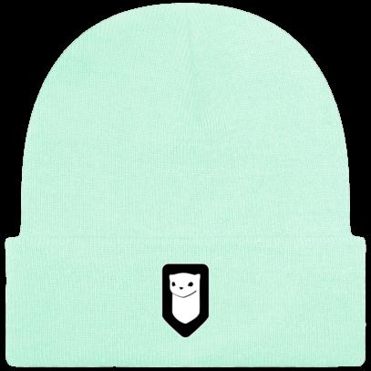 Bonnet / Tuque Breizh Traveller brodé - Pastel Mint - Face