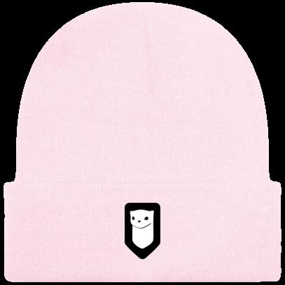 Bonnet / Tuque Breizh Traveller brodé - Pastel Pink - Face