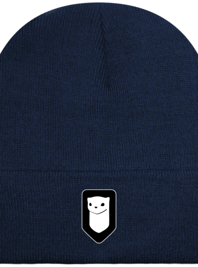 Bonnet / Tuque Breizh Traveller brodé - Oxford Navy - Face