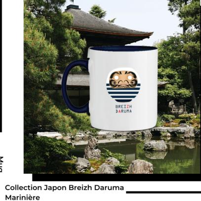Mug Breizh Daruma Marinère Collection Japon de la marque Breizh Traveller