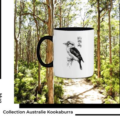Mug Kookaburra Collection Australie de la marque Breizh Traveller