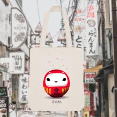 Tote Bag Breizh Daruma Cerisier Japonais