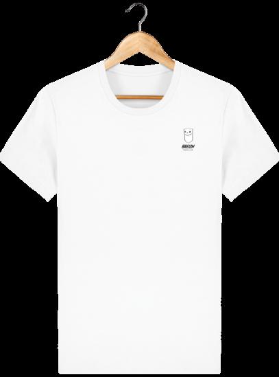 Tee Shirt Homme Hermine Bretonne - Breizh Traveller - White - Face